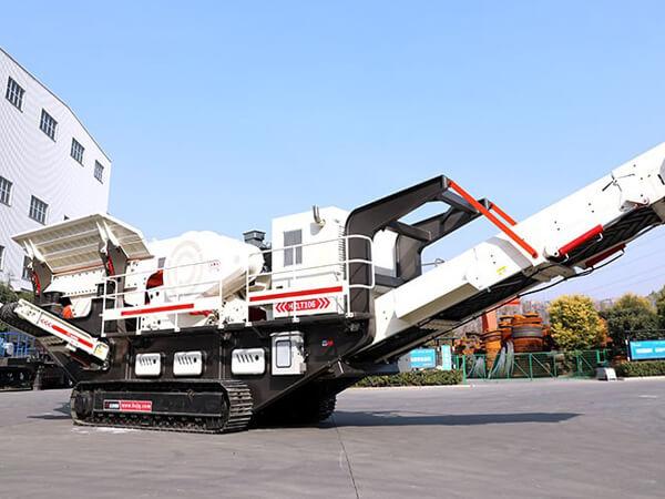 浙江劉總訂購200噸卵石移動破碎機站生產線