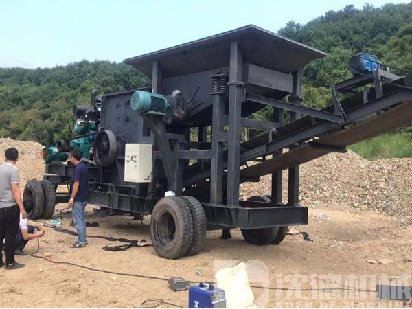 湖北用戶準備投產的石子生產線