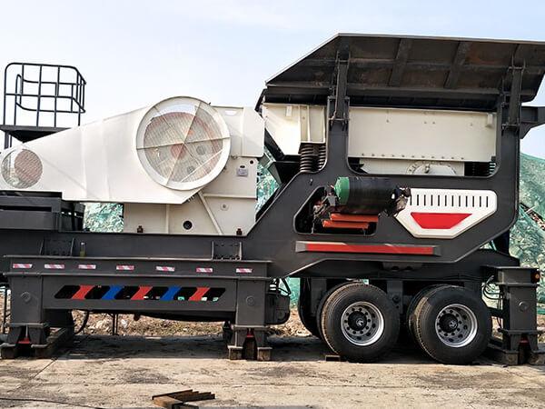 200噸卵石移動破碎機站生產線